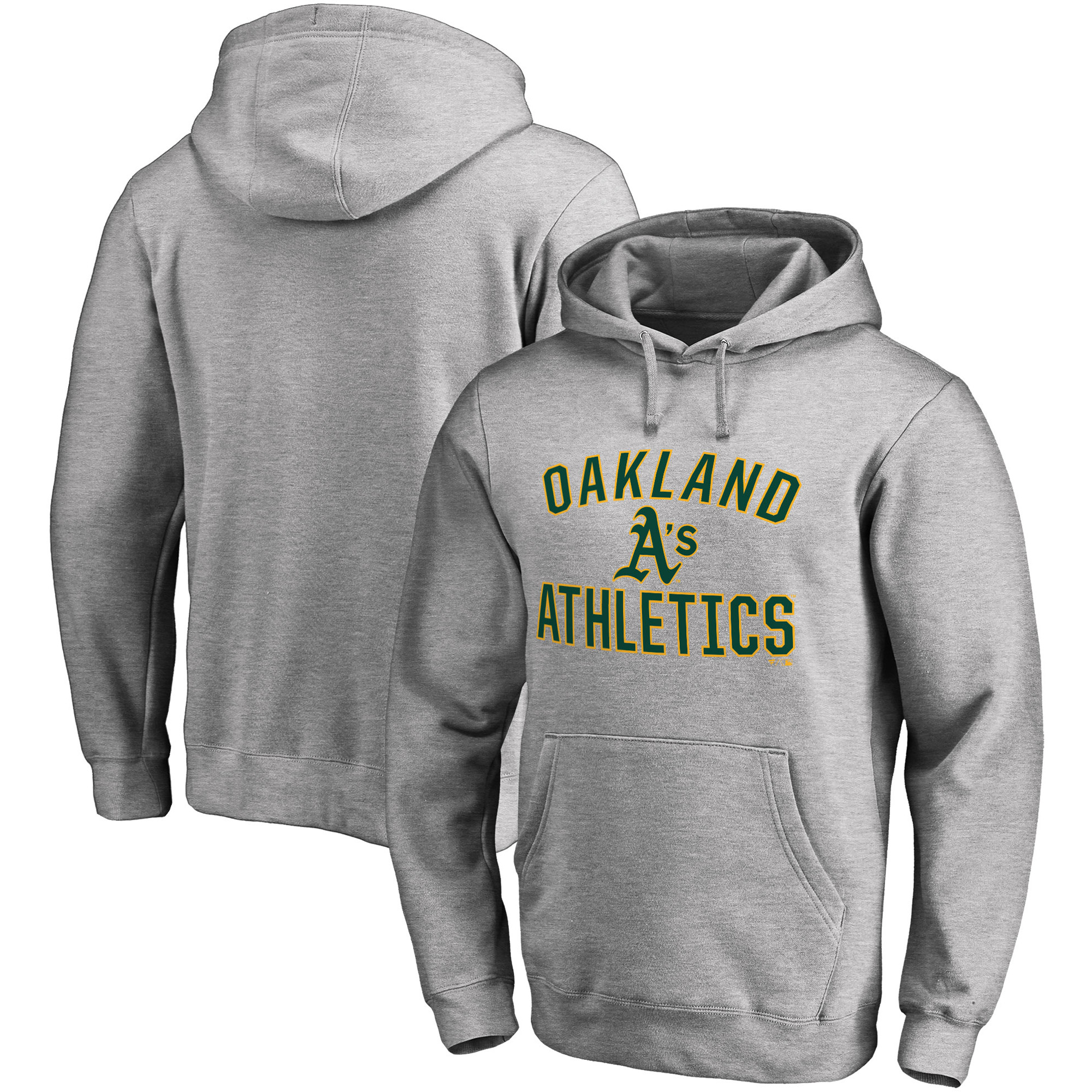 Oakland Athletics Fanatics Branded Victory Arch Pullover Hoodie - Heathered Gray
