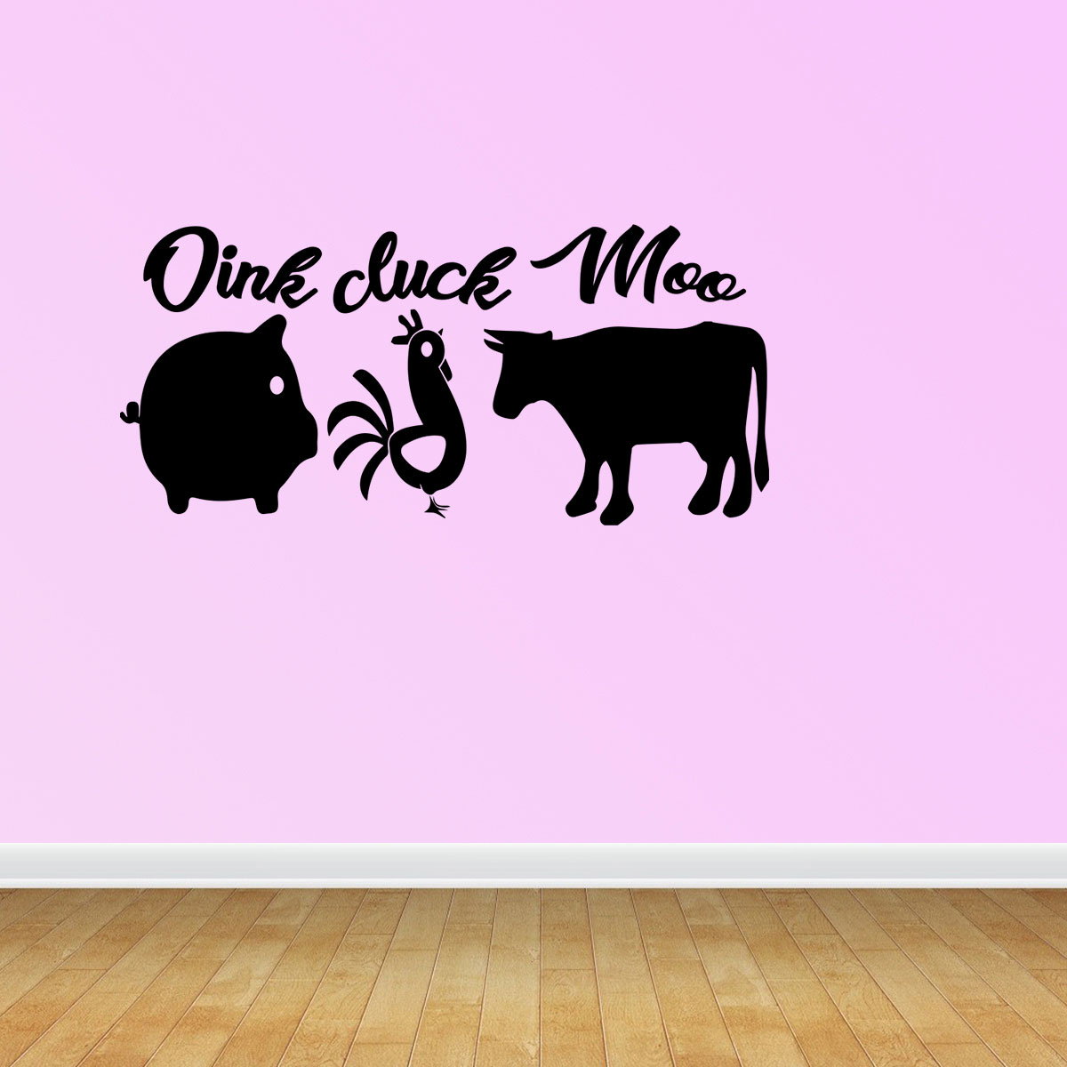 Oink Cluck Moo Kitchen Decor Sign Pig Rooster Cow Sign Home Decor Quote Pc345 Walmart Com Walmart Com