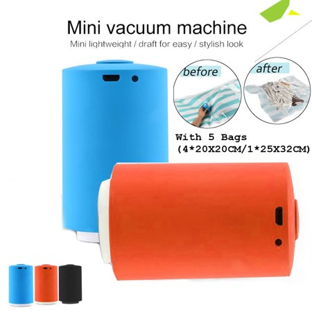 Mini Automatic Portable Electric Compression Vacuum Pump USB Household with 5