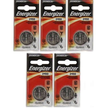 5 Pack Energizer CR2450 ECR2450 CR 2450 3V Lithium Coin Cell Button Battery