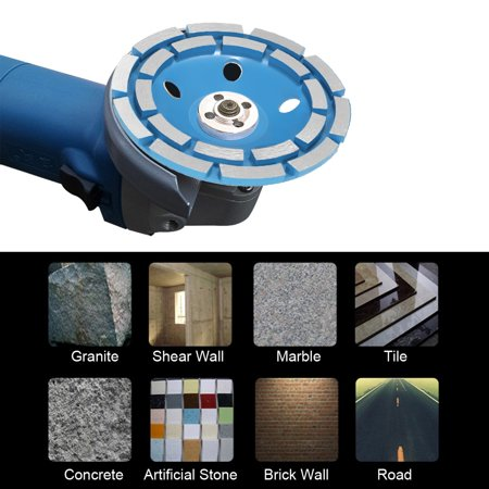 "125mm 5"" Diamond 2 Row Segment Grinding Wheel Disc Bowl Shape Grinder Cup 22mm Inner Hole for Concrete Granite Masonry Stone Ceramics Terrazzo Marble Building Industry - image 6 de 7"