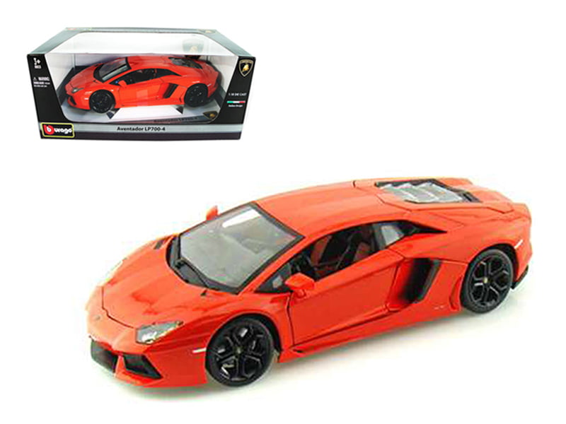 2012 Lamborghini Aventador LP700-4 Orange 1 18 Diecast Model Car by Bburago by Bburago