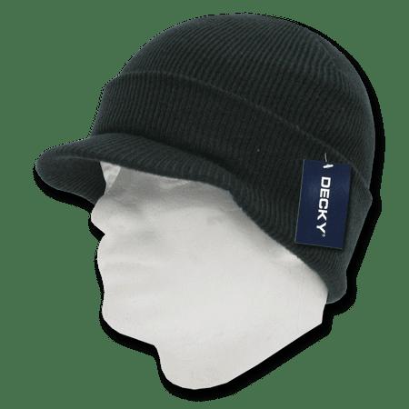 Decky Beanies Beany For Men Women GI Jeep Caps Hats Visor Ski Thick Warm Winter Skully Unisex ()