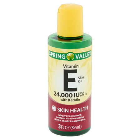 Spring Valley Vitamin E Skin Oil with Keratin, 24,000 IU, 3 fl
