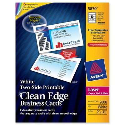 AVE5870 - Clean Edge Laser Business Cards