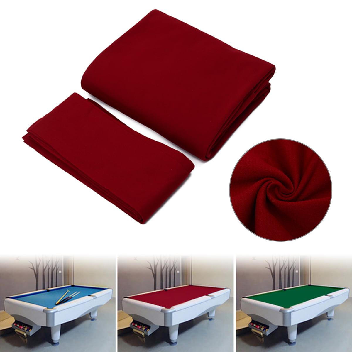 9ft Worsted Billiard Pool Table Cloth Billiard Felt w// Cushion Rail for Clubs
