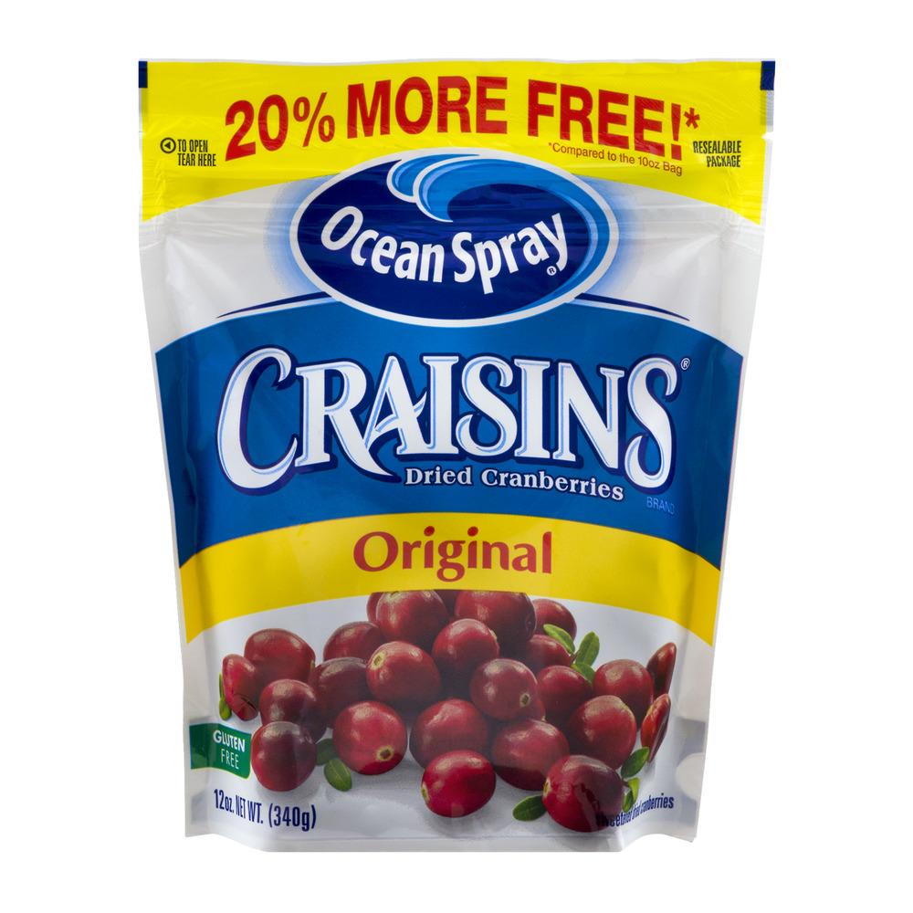 Ocean Spray Craisins Gluten-Free Original Dried Cranberries, 12 Oz.