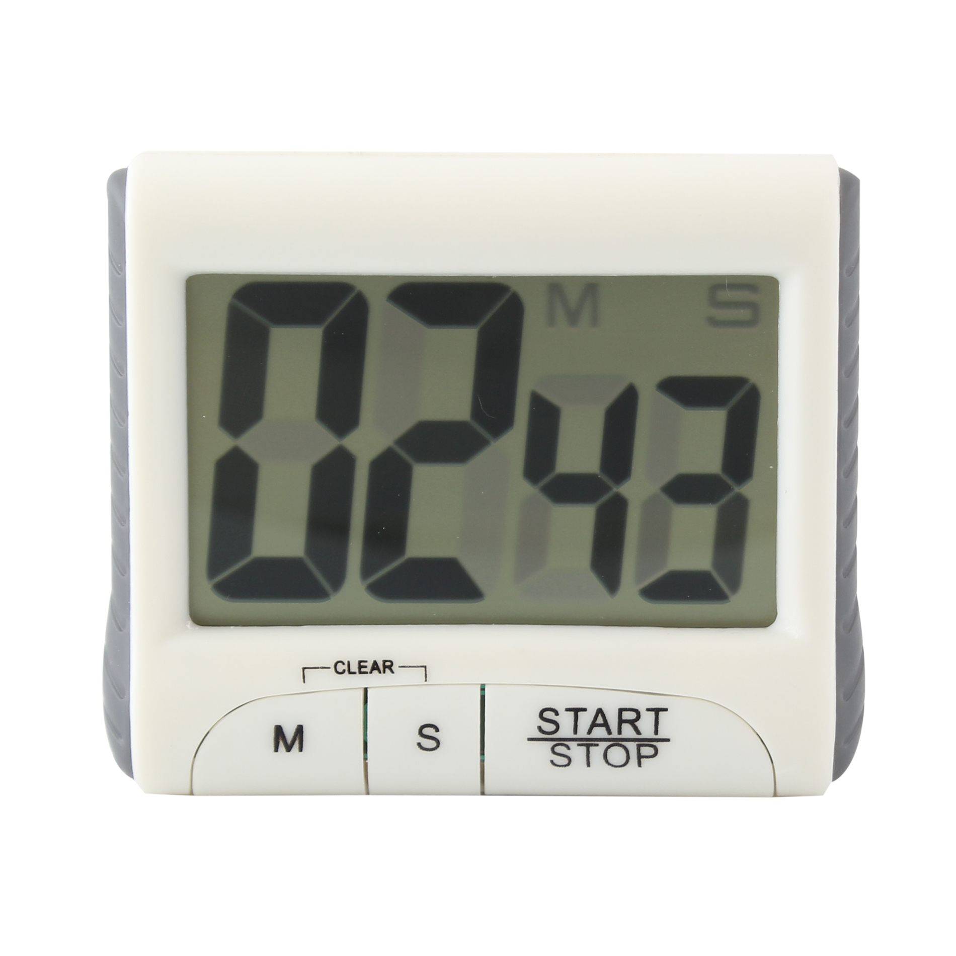Digital Large LCD display Timer, Electronic Countdown Alarm Kitchen Timer, White