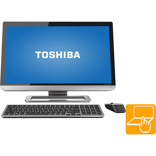 """Toshiba Silver PX35T-A All-in-One Desktop PC with Intel Core i3-3120M Processor, 6GB Memeory, 23"""" Touchscreen, 1TB Hard Drive and Windows 8"""