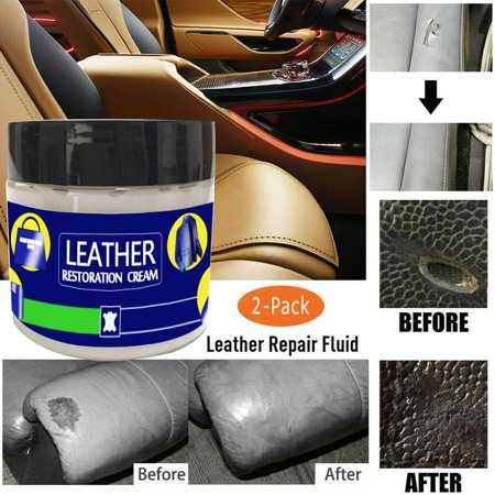 2x Reconditioning Leather Cream Vinyl Repair Kit Auto Car Seat Sofa Coats (Best Leather Seat Repair Kit)