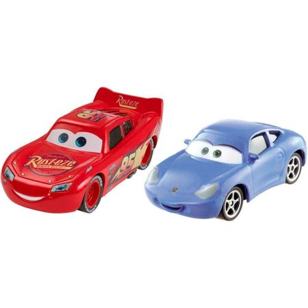 Disney/Pixar Cars 3 Die-Cast Lightning McQueen and Sally 2-Pack (Lightning Mcqueen Cars 2)