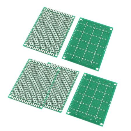 "5 Pcs 5cmx7cm 2.7"" x 2"" Single Side Universal Prototype PCB Circuit Board Blue"