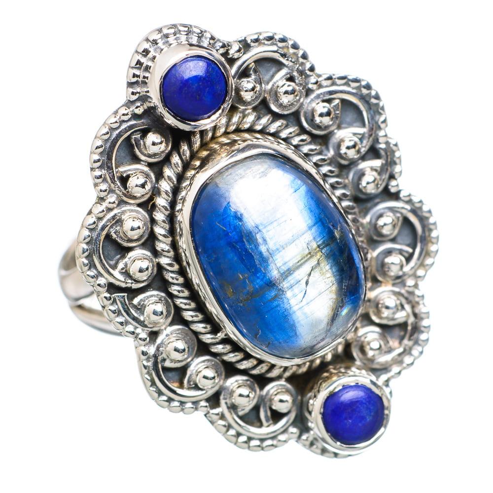 Ana Silver Co Rare Kyanite, Lapis Lazuli 925 Sterling Silver Ring Size 7 RING804324