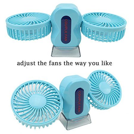 Mini Portable Twin Fan ~ USB High Velocity Foldable Personal -
