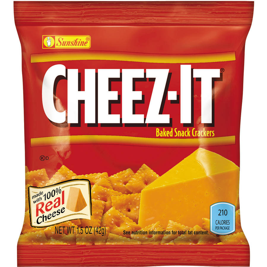 Sunshine Cheez-It Reduced Fat Baked Snack Crackers, 1.5 oz, (Pack of 60)
