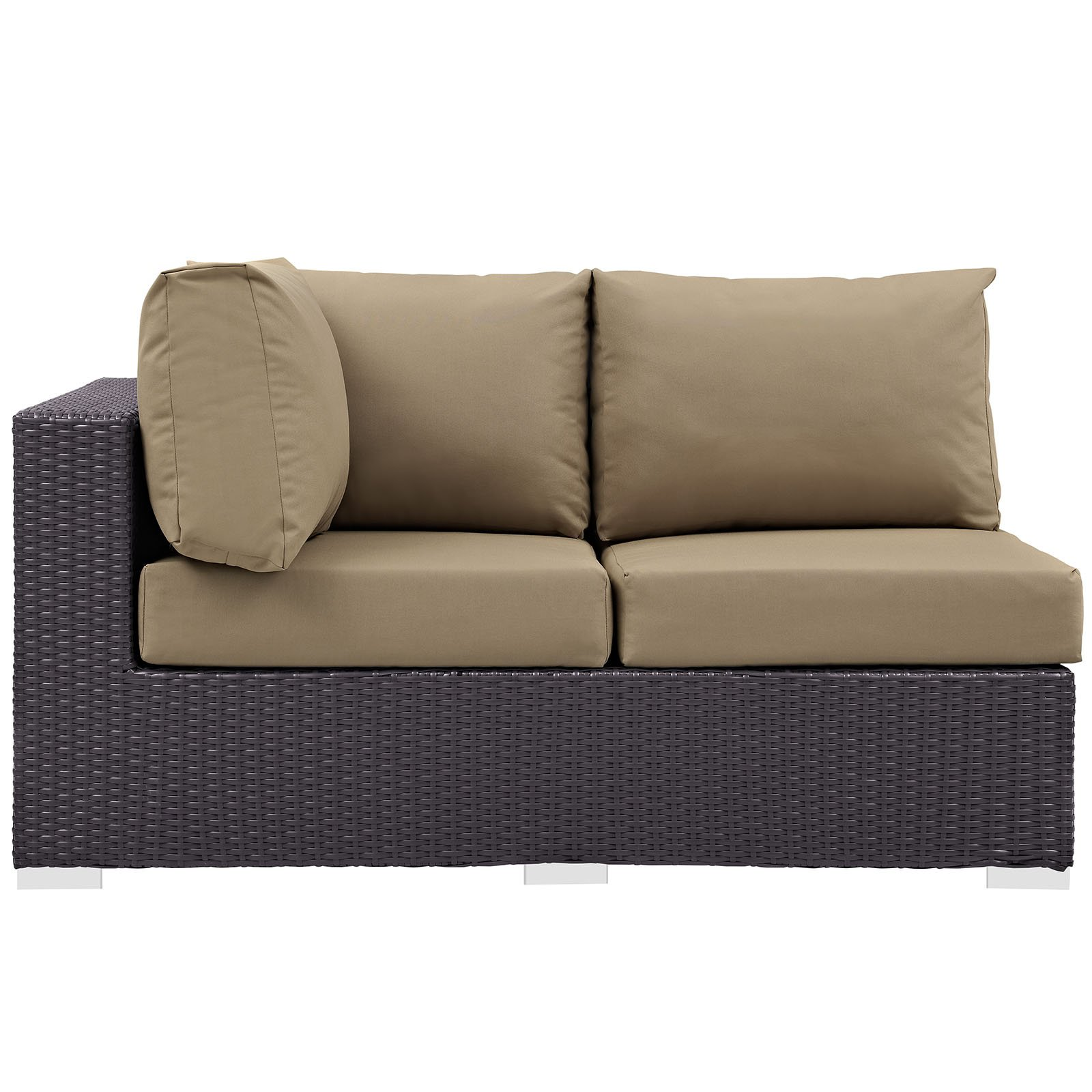 Modway Convene Outdoor Patio Left Arm Loveseat, Multiple Colors