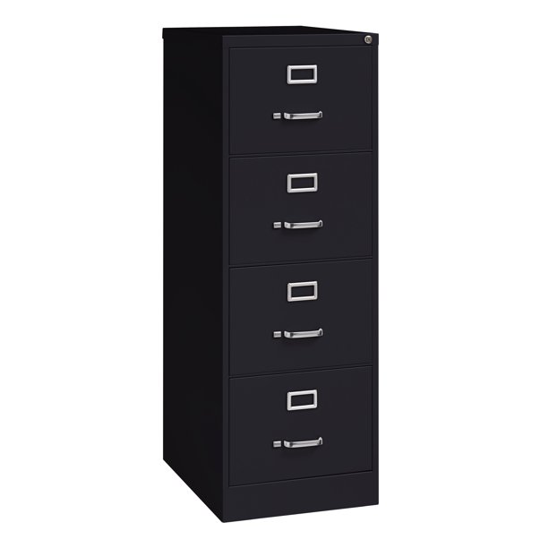 Hirsh 25 In Deep 4 Drawer Legal Width Vertical File Cabinet Black Walmart Com Walmart Com