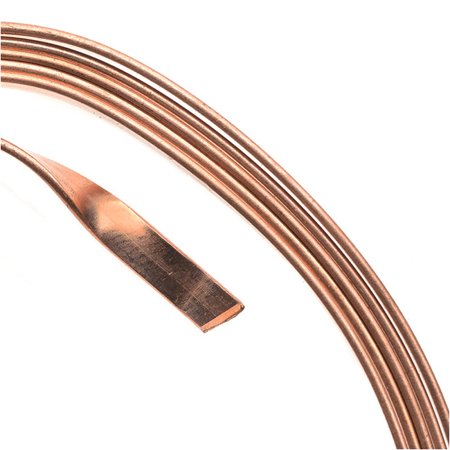 Artistic Wire, Flat Craft Wire 3mm 21 Gauge Thick, 3 Foot Coil, Bare Copper (Bare Cooper Wire)