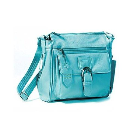39cc361e6f03 Black Right or Left Draw Crossbody / Shoulder Carry - Leather Locking  Concealment Purse / Gun Bag - CCW Concealed Carry Pistol, Light Blue