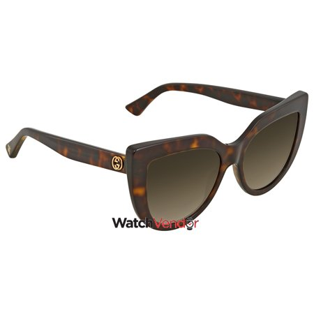 27923cdfcc Gucci Brown Gradient Cat Eye Sunglasses GG0164S 002 53 - image 1 of 2 ...