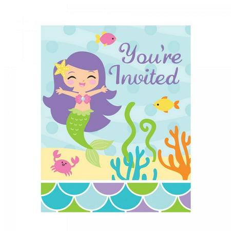 Creative Converting Mermaid Friends Invitation Foldover, 8 ct](Creative Halloween Invitations)