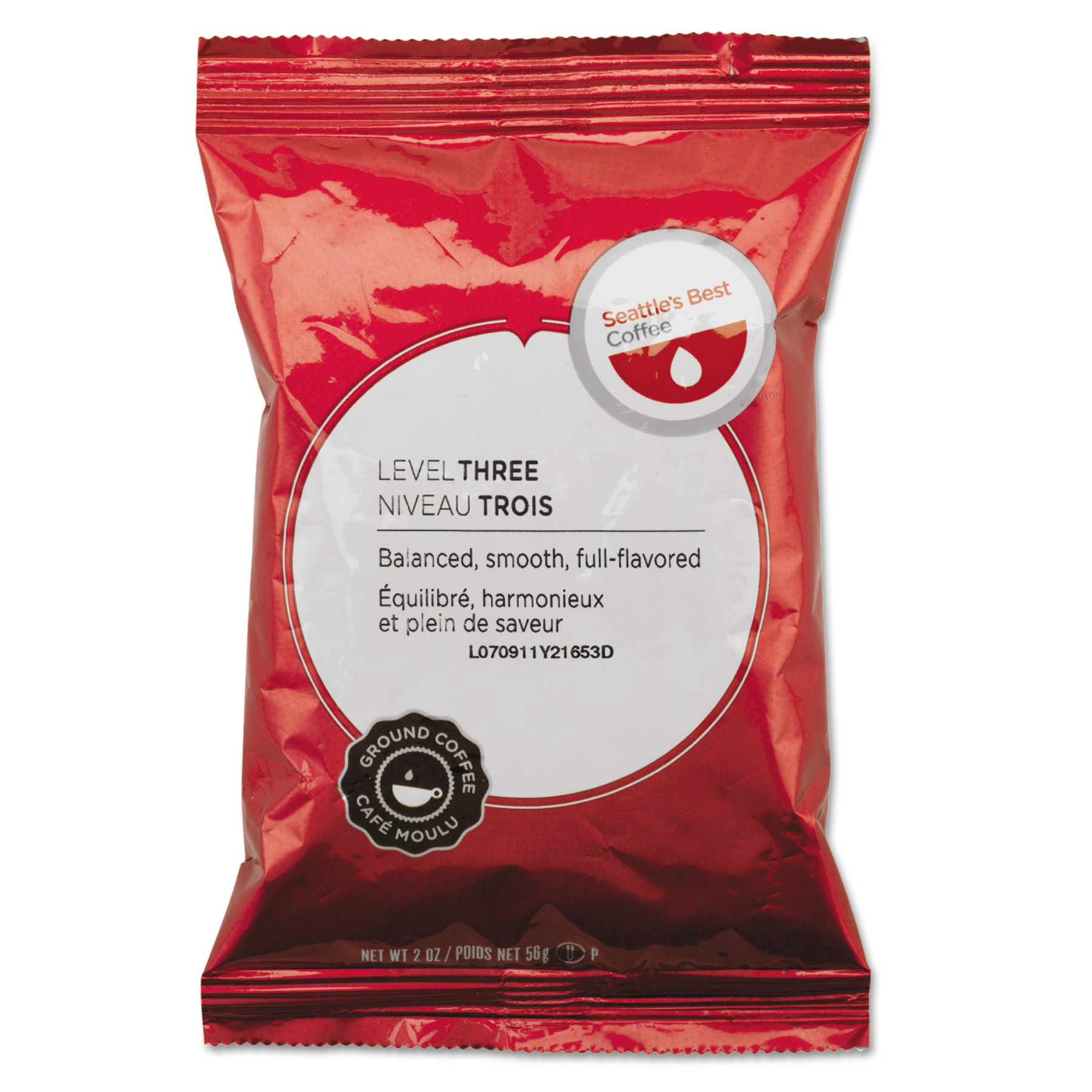 Seattle's Best Premeasured Coffee Packs, Signature-Level 3, 2 oz Packet, 18/Box