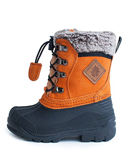 Kids Winter Snow Boots Burnt Orange by