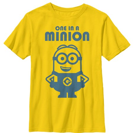 Despicable Me Boys' One in Minion Smile T-Shirt - One In A Minion Shirt