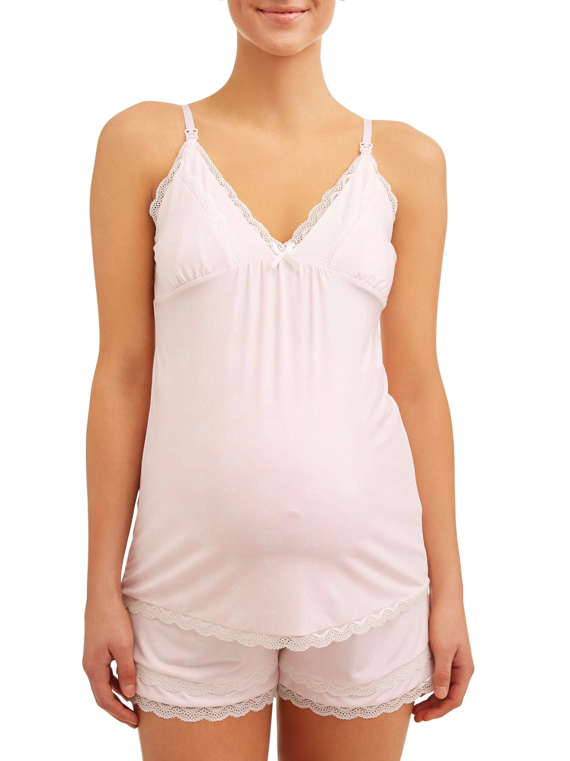 Maternity Nursing Snap Down Top and Shorts Set