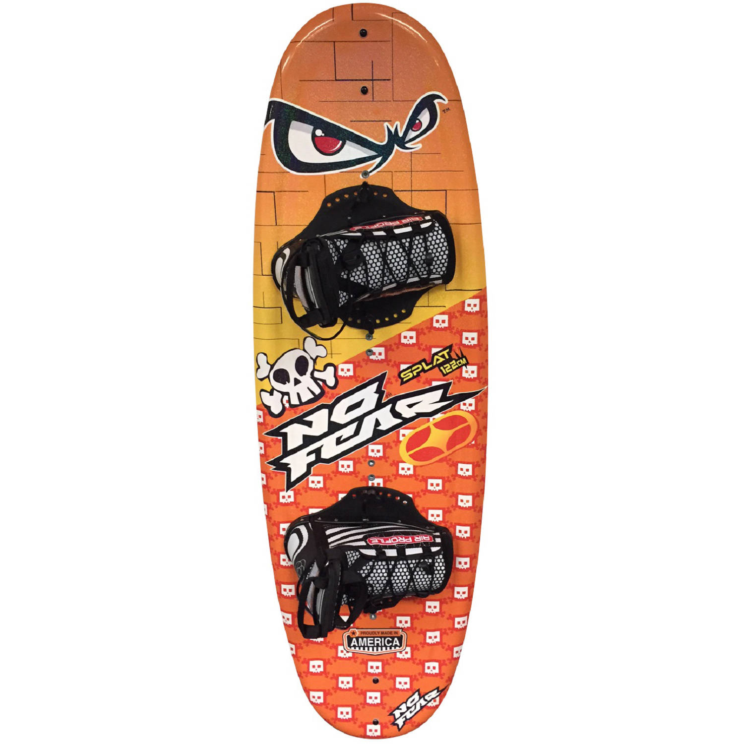 Click here to buy Nash No-Fear Splat Wakeboard with Jr. Chaser Bindings by Nash.
