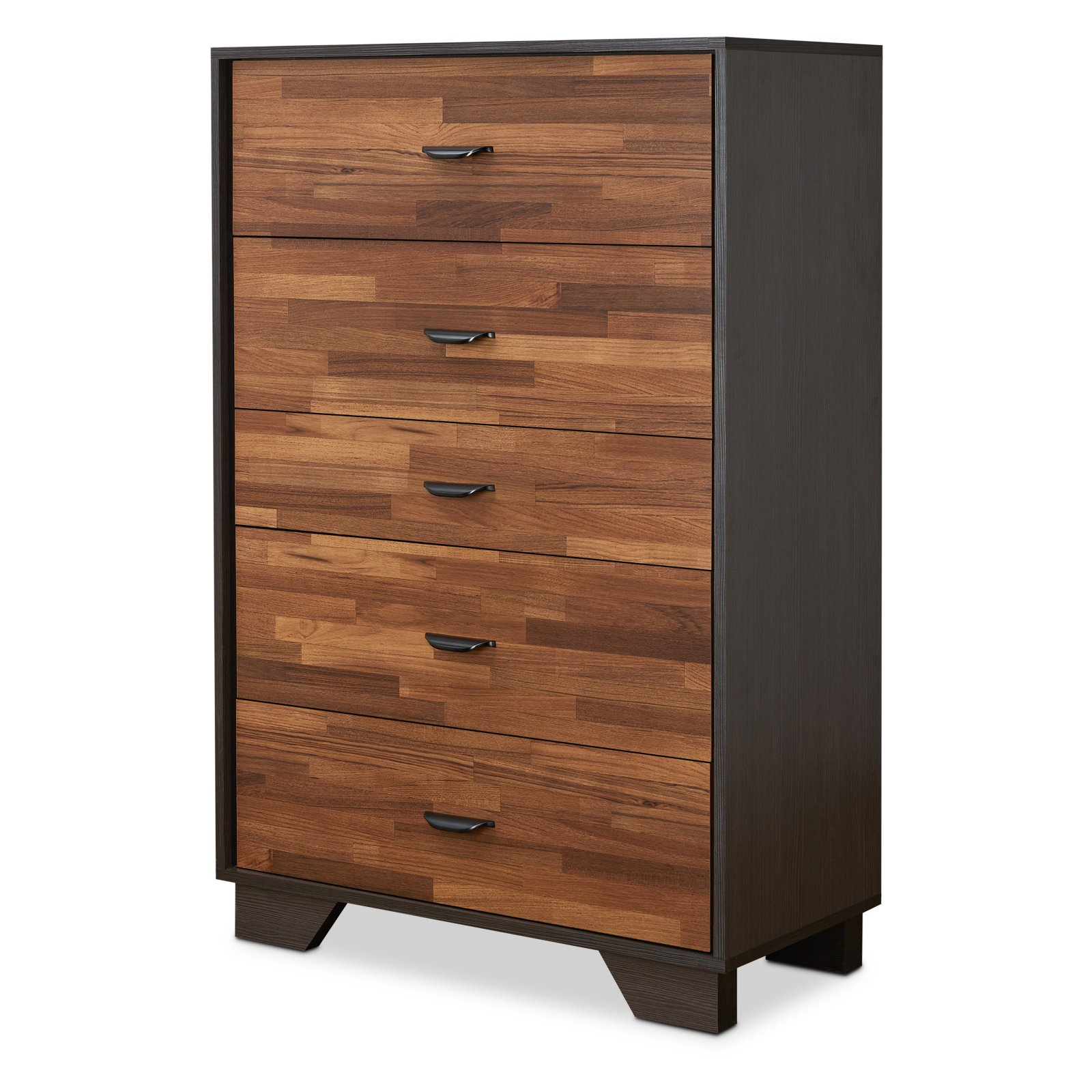Acme Furniture Eloy Walnut U0026 Espresso Chest With Five Drawers   Walmart.com