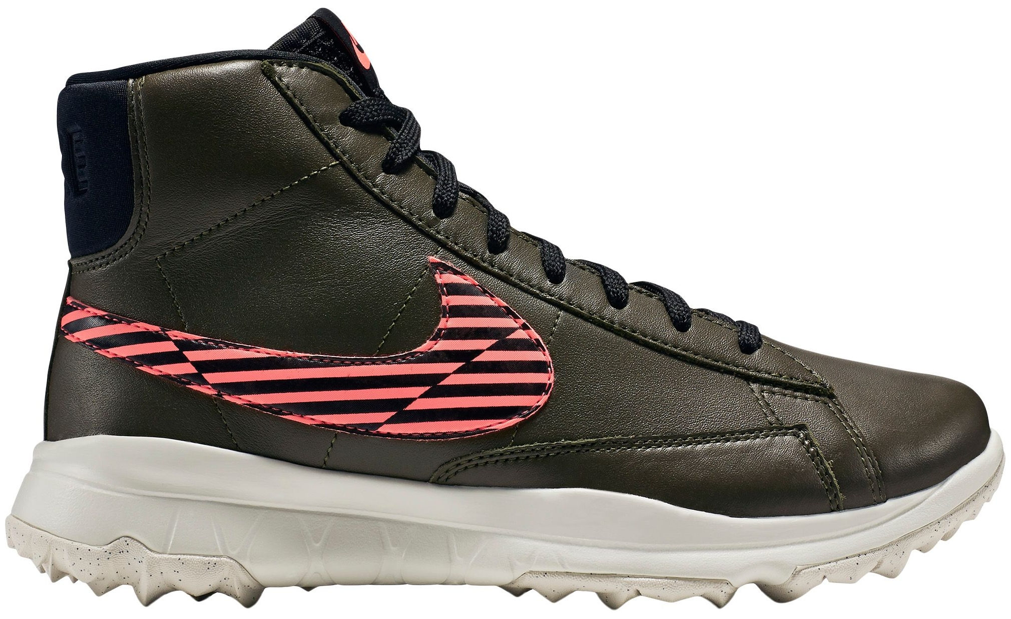 Nike Women's Blazer Golf Shoes (Cargo Khaki Black, 6) by Nike