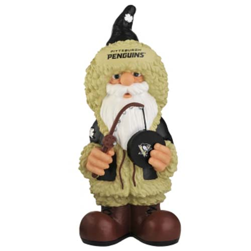 "8496652171 Pittsburgh Penguins Garden Gnome 11.5"" Thematic Hand Crafted by Forever Collectibles"