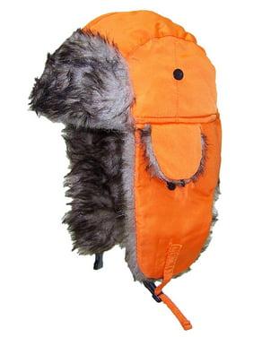 Best Winter Hats Toddler Soft Nylon Russian/Aviator Winter Hat (One Size) - Orange