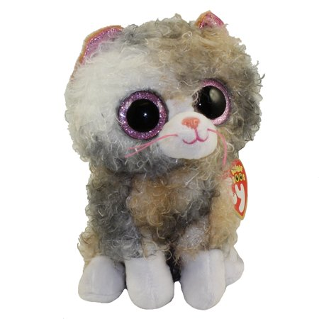 TY Beanie Boos - SCRAPPY the Curly Haired Cat (Glitter Eyes)(Regular Size - 6