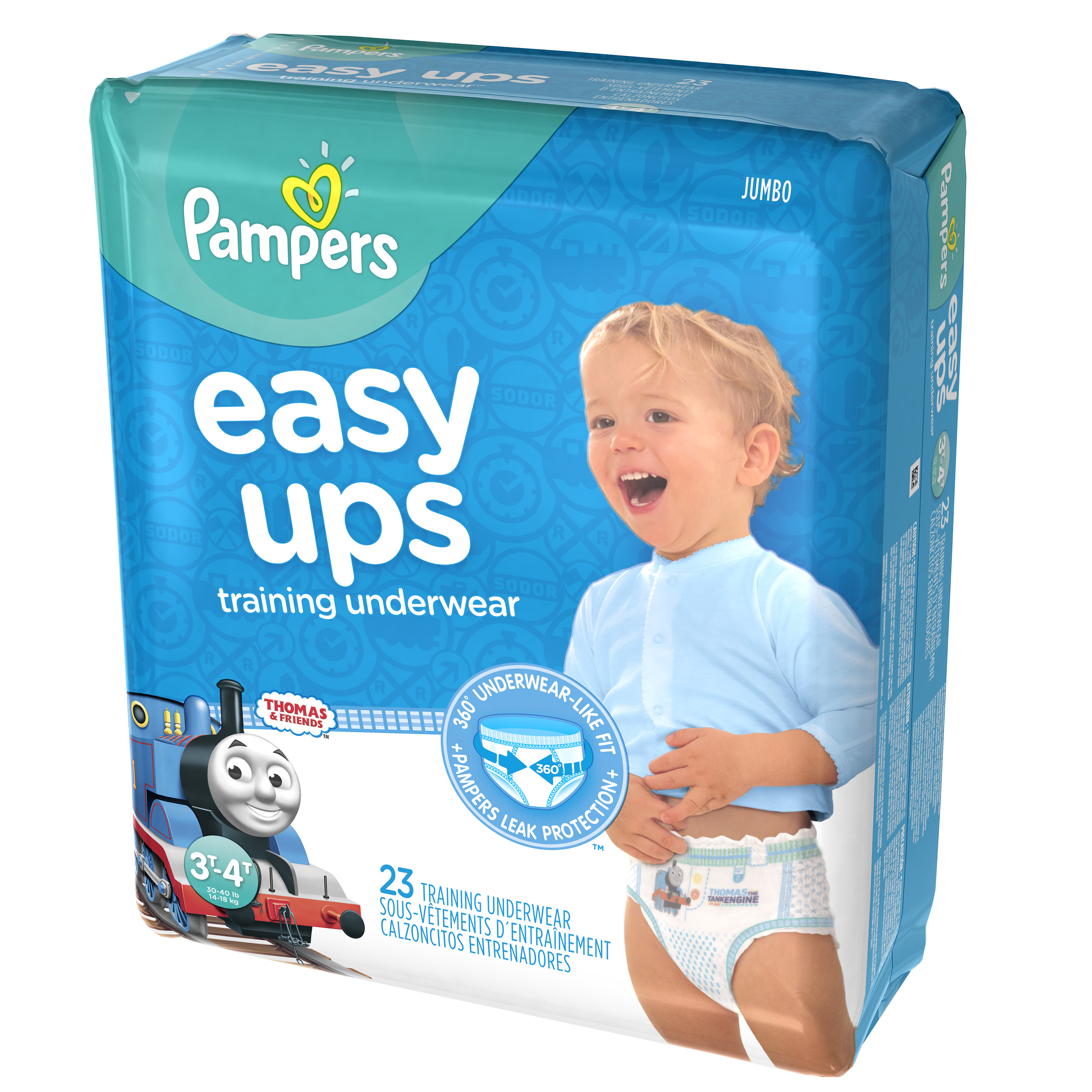 Pampers Easy Ups Training Underwear Boys Size 5 3T-4T 23 Count