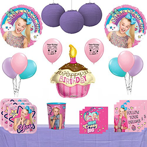 Napkins Original Version Cups Plates JoJo Siwa Party Supply Kit for 16 Guests Tablecover