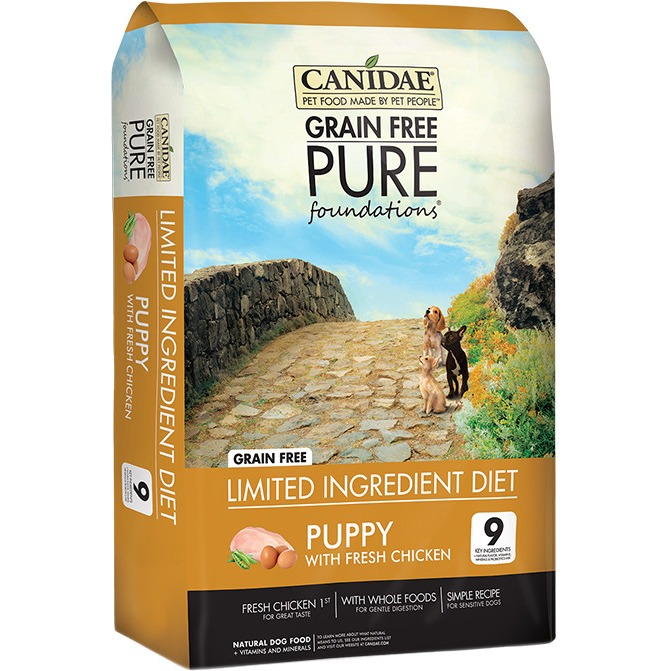 CANIDAE Grain Free PURE Foundations Puppy Formula Made With Fresh Chicken by CANIDAE Corporation