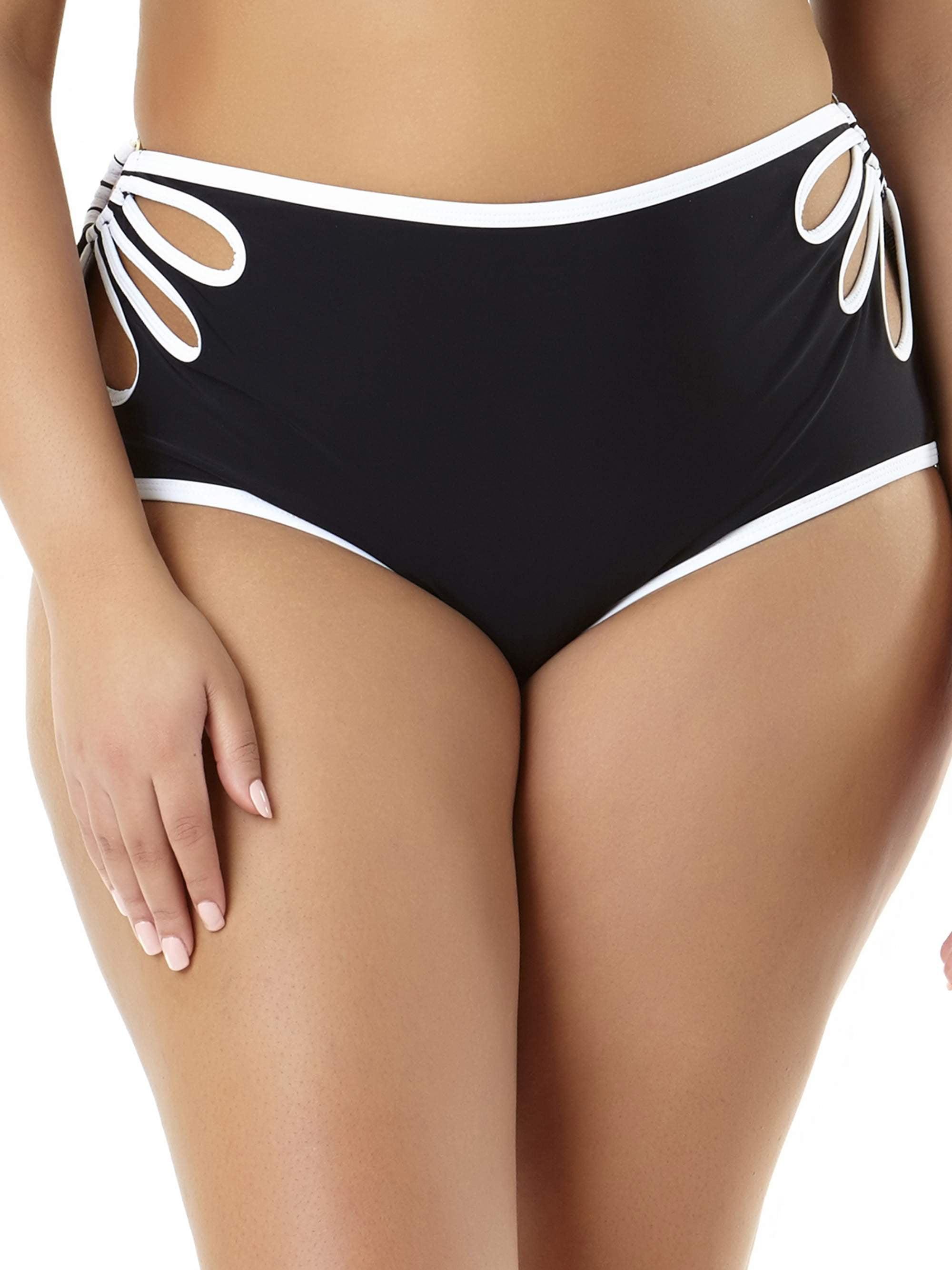 Juniors' Plus-Size Cutout Highwaist Bikini Bottom