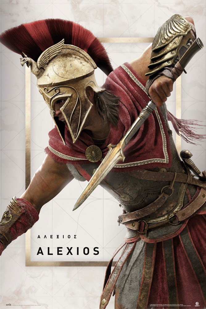 Assassin S Creed Odyssey Framed Gaming Poster Print Alexios