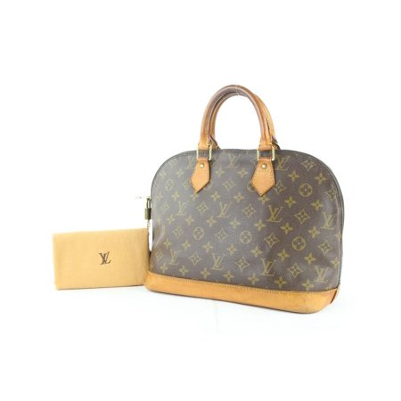 0b13d8f9c2c Louis Vuitton - Alma Monogram Bowler 3le1226 Brown Coated Canvas ...