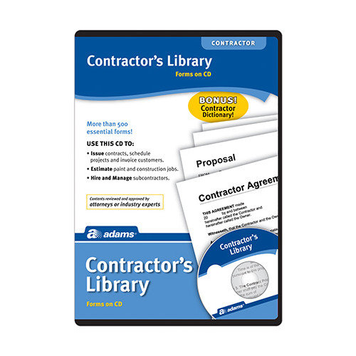 Adams Business Forms Contractor's Library Compact Disc (Set of 3) (Set of 3)