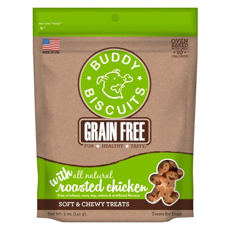 Buddy Biscuits Grain Free Soft & Chewy Treats with Roasted Chicken - 5 oz.