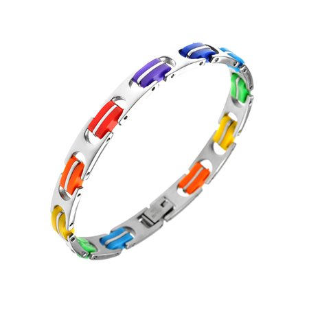 Gay Pride Rainbow Stainless Steel Bracelet (Gay Pride Jewelry Wholesale)
