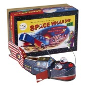St. John Mechanical Vintage Style Metal Wind-Up Space Whale Ship PX-3 by Chucklesnort