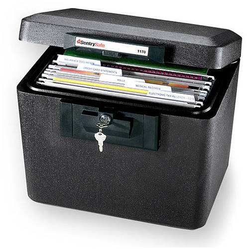 SentrySafe Model 1170 Fire-Safe Security File, Black