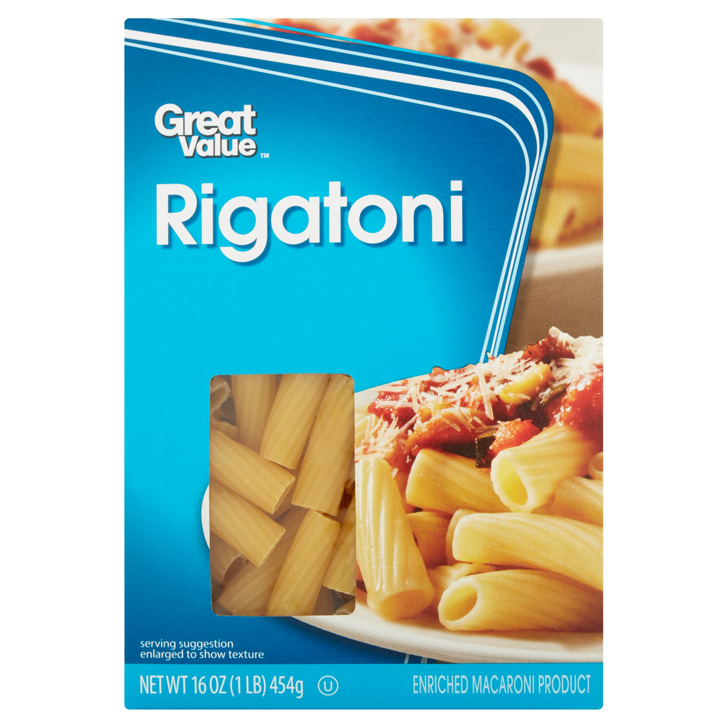 Great Value Rigatoni, 16 oz