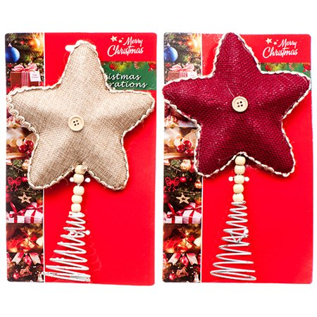 New 363508  Hx Tree Top Star Red (24-Pack) Christmas Cheap Wholesale Discount Bulk Seasonal Christmas Boys - Cheap Christmas Shop