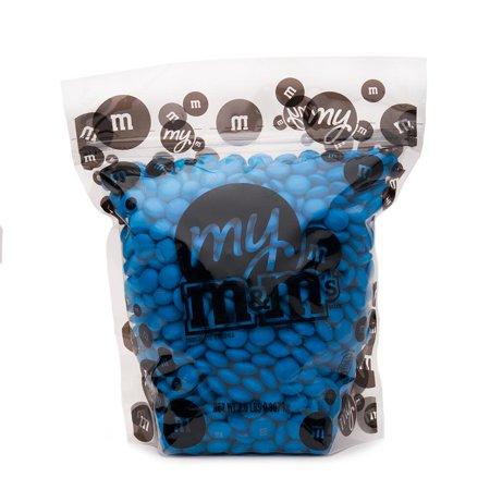 My M&M's Blue 2lbs Bulk Milk Chocolate Candy Reusable Bag Baby Birthday Parties