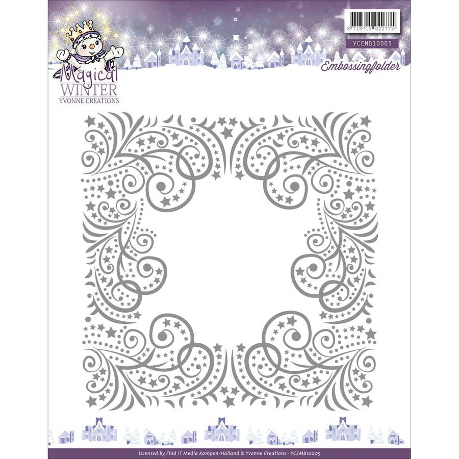 Find It Trading Yvonne Creations Embossing Folder-Magical Winter
